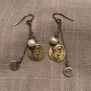 SILPADA Sterling Brass Coin Earrings
